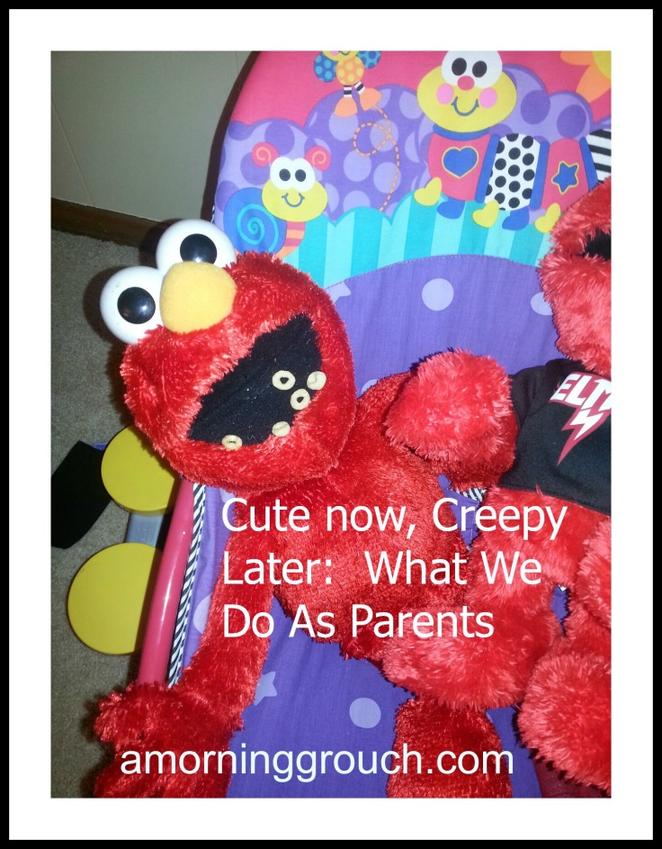 What we do as parents is cute now, but would most definitely be considered creepy, later.