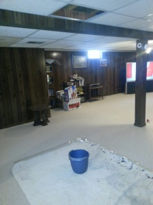 Leaking sink meant water dripping into the basement.