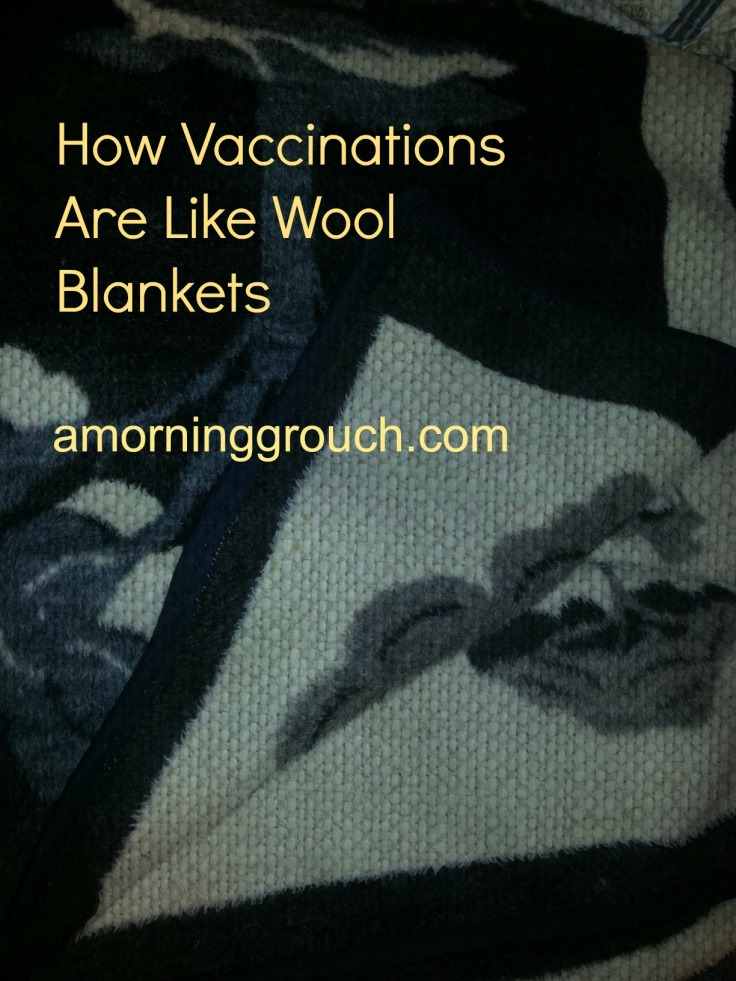How Vaccinations are Like Wool Blankets.  Protect yourself and your community - wrap up!