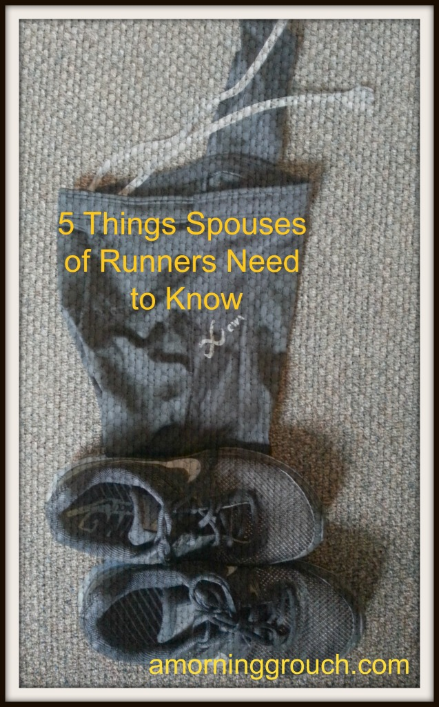 Your spouse is a little bit crazy.  That's why he/she needs to run.
